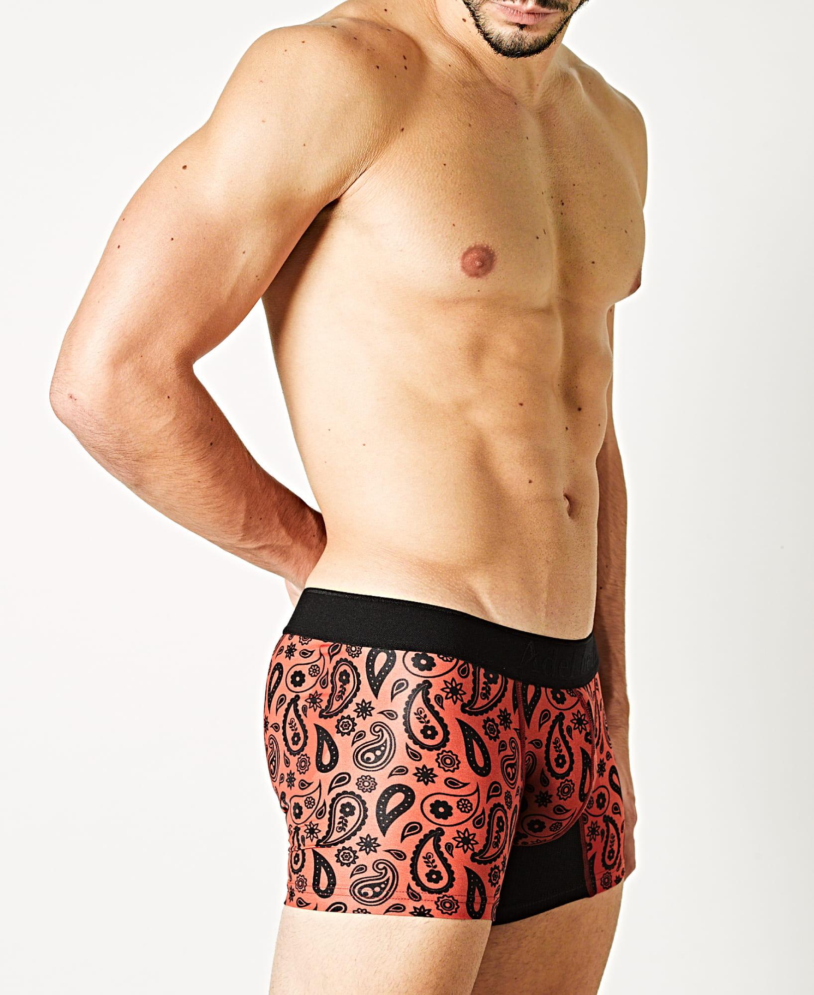 BOXER アンダーウェア ブランド 通販 | 履き心地 最高 高級 メンズ ボクサーパンツ PAISLEY RED モデル着用 ブランド詳細画像3