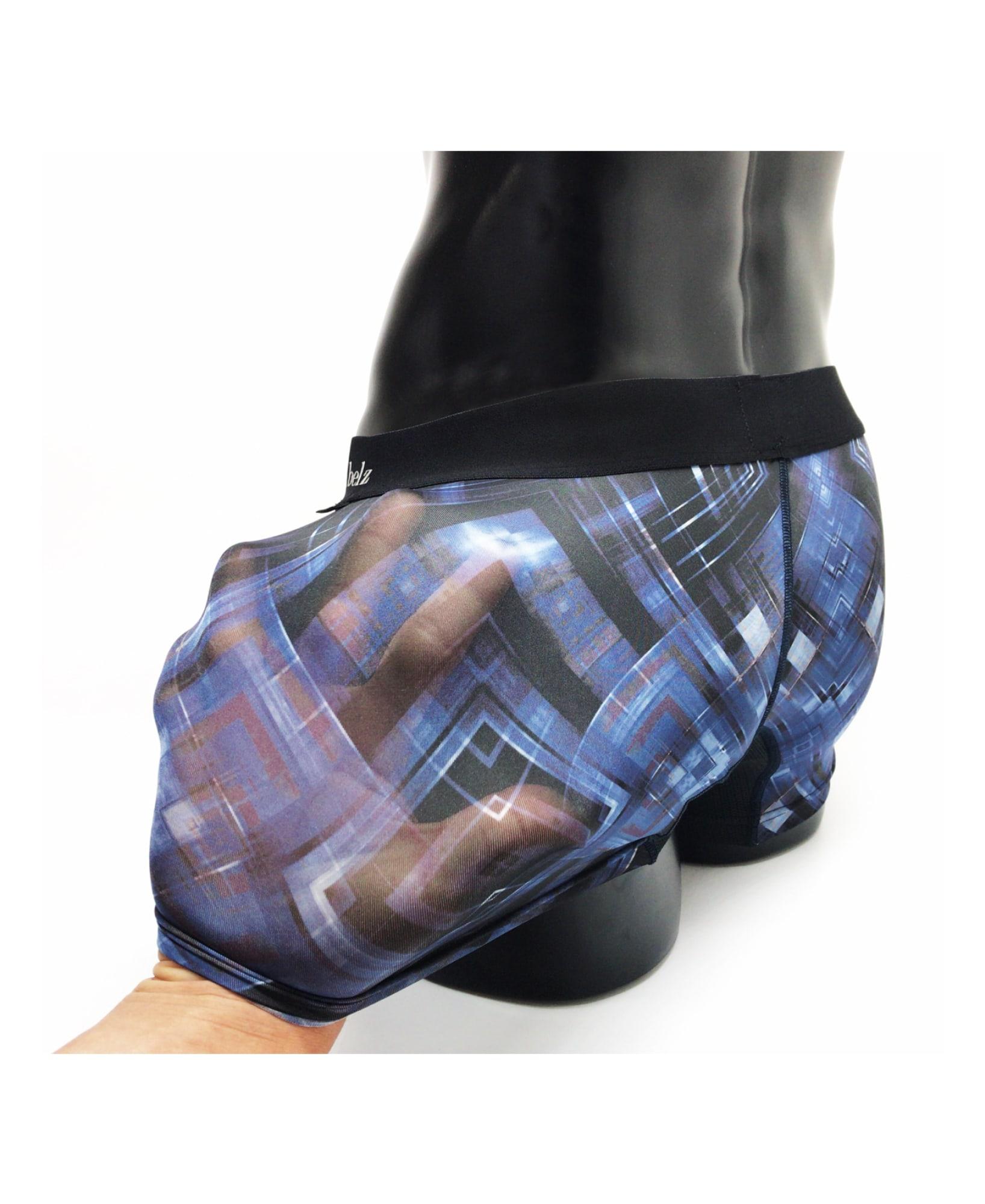 BOXER ボクサーパンツ 通販 | ナイロン ストレッチ ツルツル 肌触り DIGITAL WAVE | ブランドデザイン詳細画像